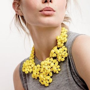 Jcrew Yellow Cluster Necklace